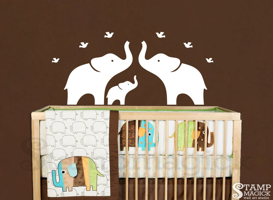 Funny Elephant Wall Decals For Nursery Elephant Wall Decal Nursery Wall Decal White Elephants