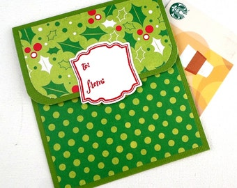 Christmas Gift Card Holder - Holiday Gift Card Holder - Holiday Money Cards - Company Christmas Bonus Cards - Holiday Tip Envelope