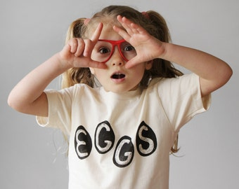 Kids Organic Natural Egg T Shirt, Easter Eggs, Easter basket, funny t-shirt, backyard chickens, gift for kids, chicken eggs, organic cotton