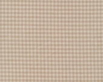 Cloud9 Checks Please Brown Gingham Organic Cotton Fabric
