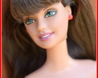 Ashes To Beauty Gem #7 Barbie Brunette Re-purposed Restored