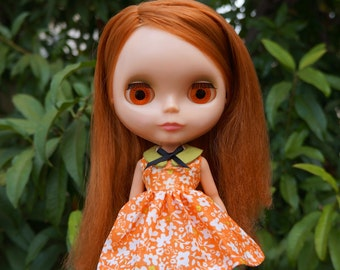pumpkin patch dress for blythe