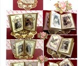 Bird's Wedding Photo Album a 1:12 scale Book Style Project, easy to make, miniature book Digital Download Printable  DH019