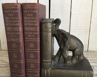 Vintage Elephant Book End - Single