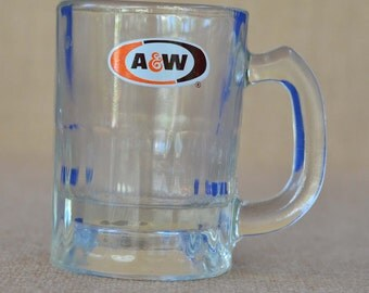 A and W Root Beer Child Size Glass Mug - Advertising Premiums