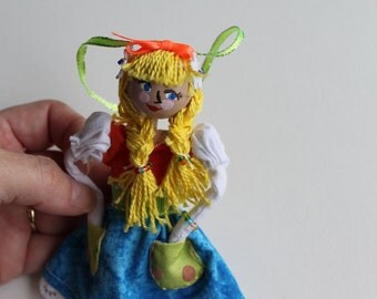 Handmade Cloth Doll May Day Princess hanging ornament