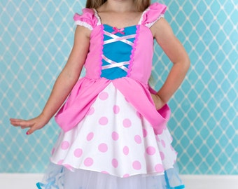 Little Bo Peep costume,  Bo peep dress, Toy Story costume, Halloween costume, Lover Dovers, story book character costume, girls costume