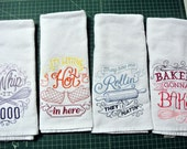 Embroidered Kitchen Towels RESERVED LISTING for FLUFFYBUTTERFLY