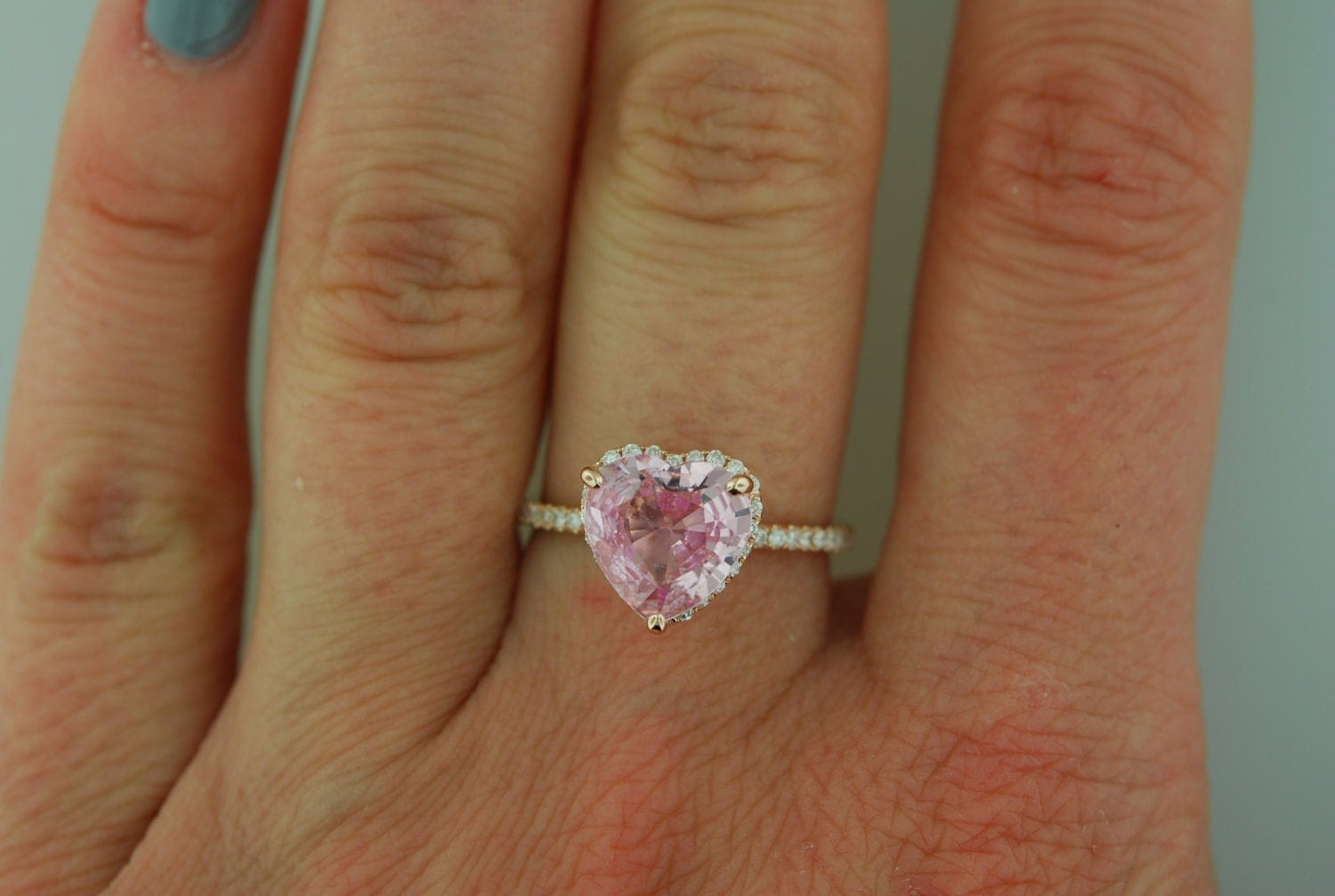Heart Engagement Rings - Sapphire Engagement Rings by EidelPrecious
