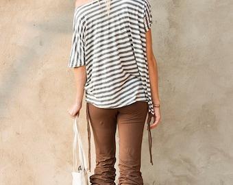 ADINATA YOGA PANTS - Organic Athletic Hippie Boho Sports Trousers Fairy Pixie Faery Plus size - Chocolate Brown