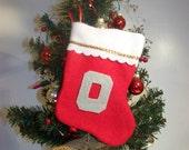 "Ohio Block ""O""  Mini Stocking"