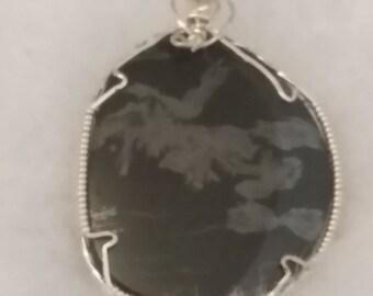 4224 Magnetite Jade Pendant