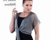 Promo Sale Silk Shrug/ Bolero Tie Front /Collection GALA / 35 colors/ Sizes XS - 2X