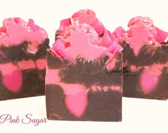 Pink Sugar Handmade Vegan Artisan Cold Process Soap