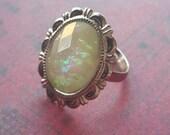Elegant Opal Adjustable Ring