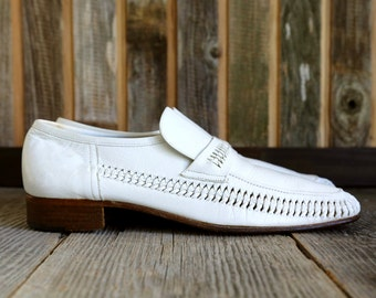 SALE - Woven Italian Florsheim Leather Loafers