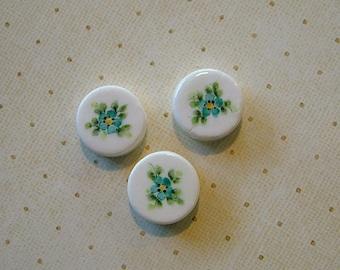 Round Disc Bead set of 3