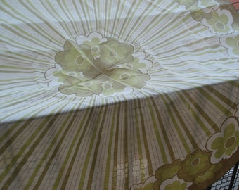 FOUND IN SPAIN -- Round floral tablecloth