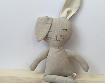 Natural Linen Flax Sleepytime bunny