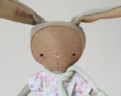 "SALE! the foundlings | handmade cloth bunny doll | ""hannah"""