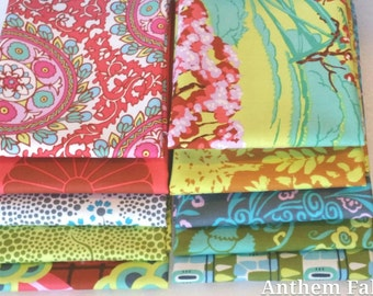 Amy Butler Fabric Cameo -  Tall Stories Fat quarter bundle of 10