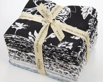 Rosecliff Manor Fat Quarter Bundle RB3920-18FQ cotton fabric, Rosecliff Manor by Emily Taylor Designs - Riley Blake