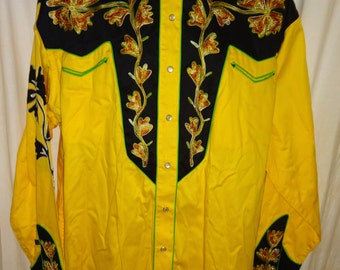 "Fantastic 1950's Reproduction Two Tone Rockabilly Western Shirt by ""Rockmount"" XL/50"""