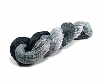 150 Yards Hand Dyed Thread Cotton Crochet Thread Size 10 3 Ply Specialty Thread Grey Ombre Thread Hand Painted Fine Cotton Yarn