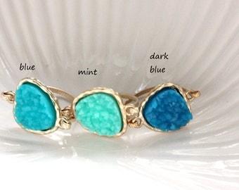 SALE ~ Druzy ring 14kt gold filled - custom size - pick your color
