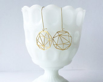 Faceted Geometric Sphere Earrings | ATL-E-103