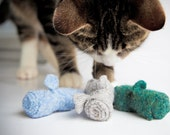 FREE SHIPPING Mice Mice Baby Holiday Special, Cat Lovers Gift,  Mouse of the month, 4 sets of Three Blind Mice organic catnip cat toys
