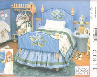 Vogue 9352 Linda Carr Designer Doll Funiture Pattern Furniture Sewing Pattern for 18 Inch Dolls UNCUT