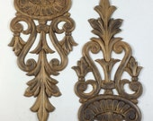wooden embellishments vintage carved decorative stained wood appliques onlays