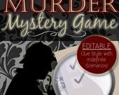 Editable Reusable Murder Mystery Game {Clue Style} - INSTANT DOWNLOAD