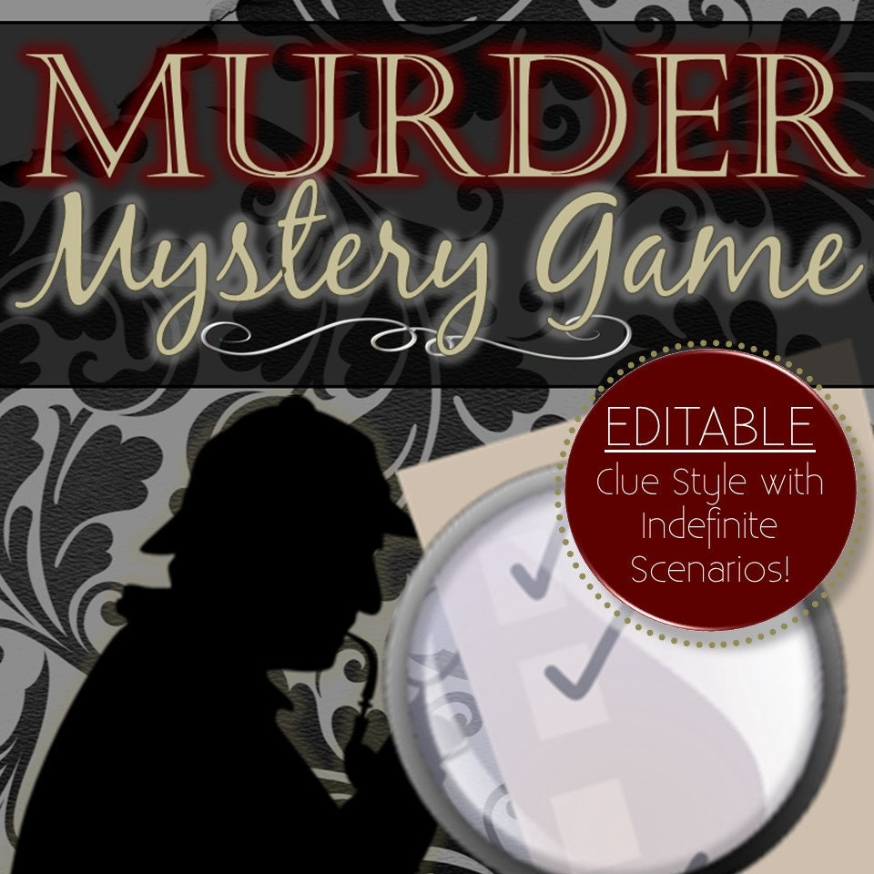 Best Murder Mystery Dinner Free: Editable Reusable Murder Mystery Game Clue Style INSTANT
