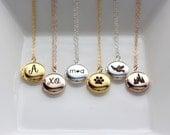 SALE Engraved Mini Locket Necklace - Tiny Locket Necklace Personalized Necklace Custom Locket Silver Locket Gold Locket Personalized Gift