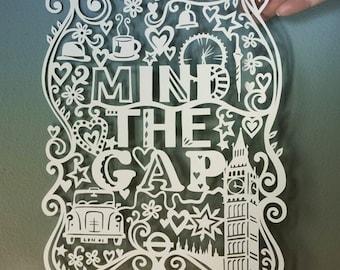 Template! Mind The Gap (London) Papercut