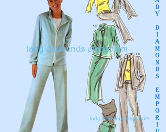 Simplicity 5867 Womens Pants Shorts Skirt Jacket Shirt Tops sz 6 8 10 12 Easy Active Sports Wear Exercise Sweat Suit Sewing Pattern Uncut FF