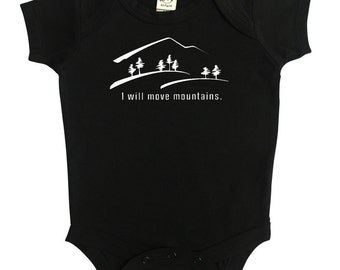 Move Mountains Silhouette Baby Bodysuit