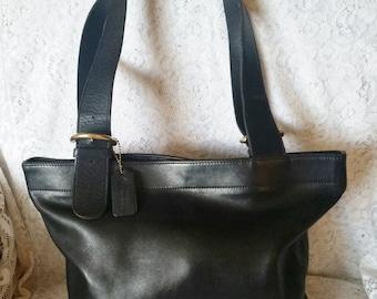 Vintage, COACH, Black Leather, Large, Lafayette Soho Tote, Shoulder Handbag, 4140