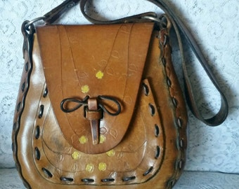 Vintage, Hippie-Chic, Boho-Chic 1970s, Leather, Handbag