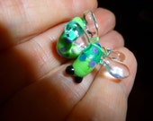 Glass Dragonfly Bead, spiral dread bead with a 4, 5 or 6 mm hole, MADE TO ORDER