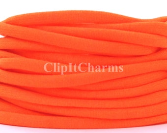 Wholesale .39+ Orange Stretch Nylon Chokers...Use for bottle cap jewelry,pendants,charms, headbands/doubles as a bracelet or anklet....