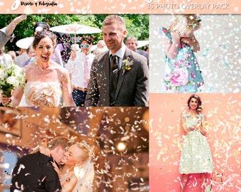Confetti Photoshop Overlays, confetti overlays, Photoshop overlay, party overlays, wedding overlays, holidays, easter overlays, celebration