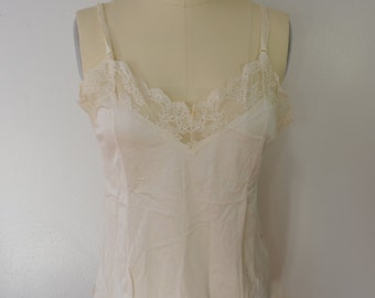 Vintage FORTUNE 1960's camisole lingerie top size large UNION made USA