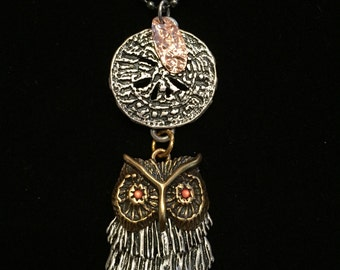 Owl Charm Necklace - 36-Inch