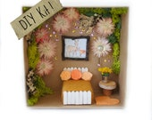 Craft Kit for Kids DIY Fairy Garden Kit, Fairy House Kit, Fairy Bedroom Home Nature All Natural Eco Friendly Craft Birthday Gift