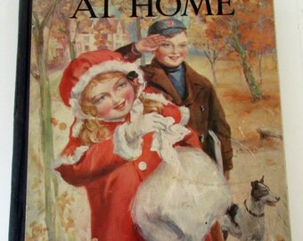 "Vintage Book ""Boys and Girls at Home"" Illustrated 1929"
