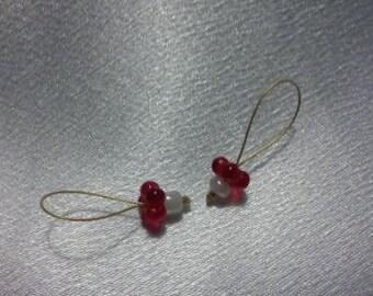 Red Flower stitch marker set