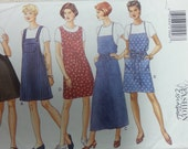 Misses Jumper and Top Pattern  Butterick 3879 Aline Jumper Pattern and Top Misses Size 6 8 10 12